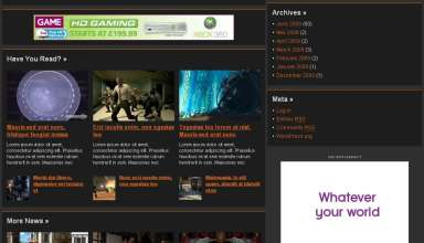 gameline avjthemescom stylewp theme - Gameline Wordpress Theme