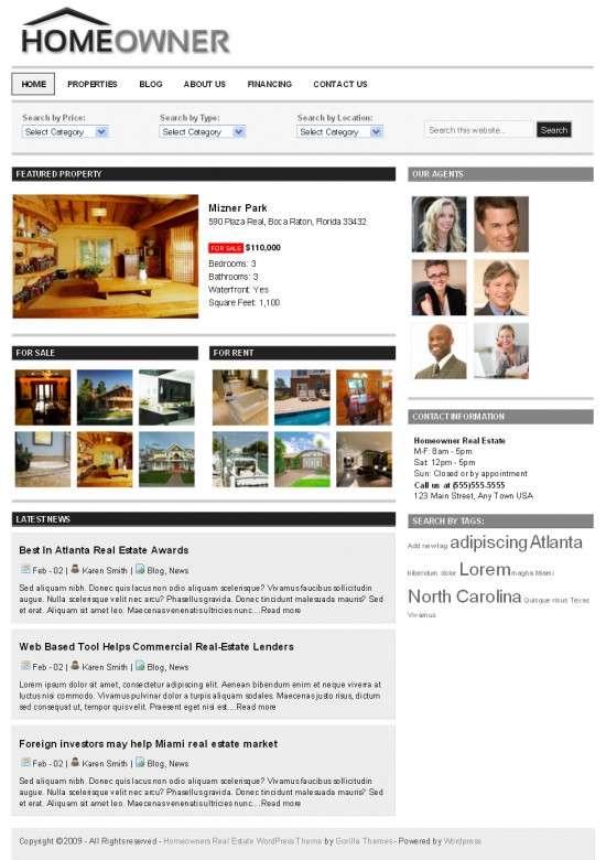 homeowner gorilla themes avjthemescom 550x780 - Homeowner Real Estate Wordpress Theme