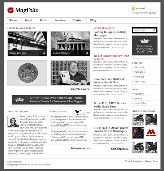 magfolio avjthemescom premiumthemes - MagFolio Wordpress Theme