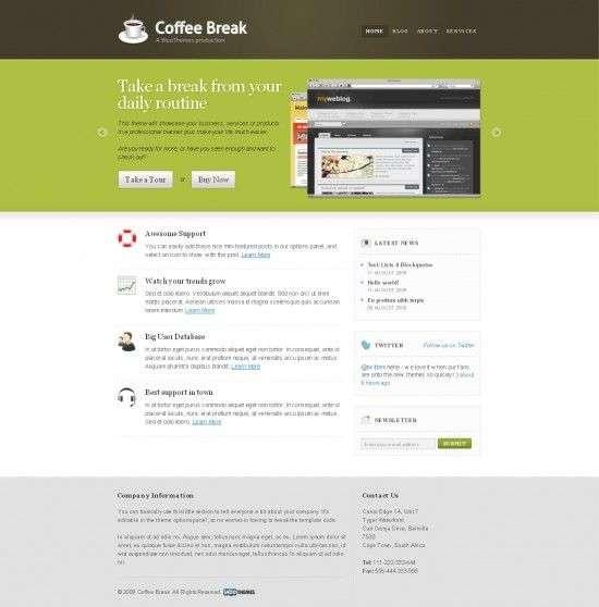 coffee break woothemes premium wordpress 550x558 - Coffee Break Wordpress Theme