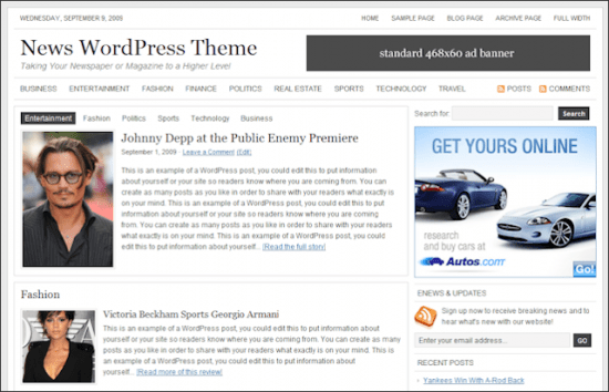 studiopress news woordpress theme 550x354 - Studiopress News Wordpress Theme
