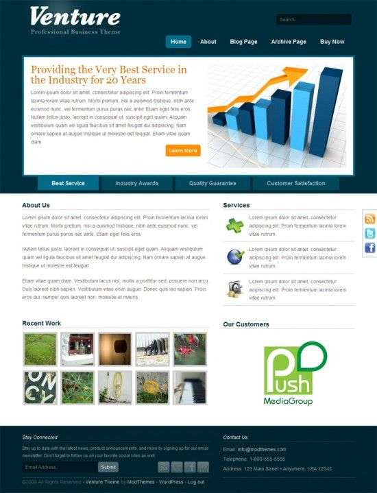 venture home 550x719 - Venture Wordpress Theme