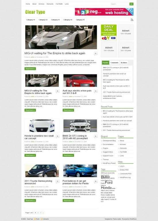 cleartype wordpress theme 550x767 - Clear Type Wordpress Theme