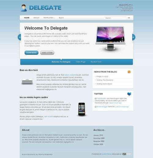 avjthemes delegate wordpress theme - Delegate Wordpress Theme