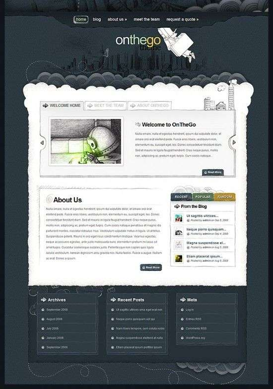 onthego elegant theme 550x784 - OnTheGo Wordpress Theme