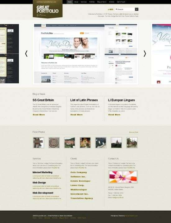 portfolius3 550x718 - Panda Wordpress Themes