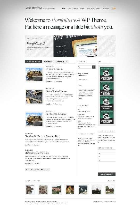 portfolius4 - Panda Wordpress Themes