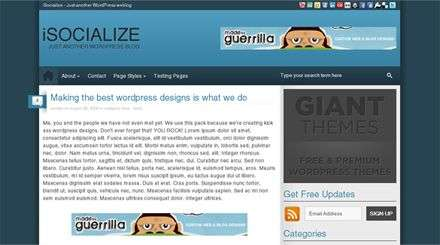 isocialize giantthemes - Giant Wordpress Themes