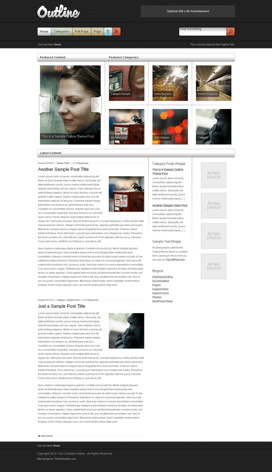 outline wordpress theme - ThemeGarden Wordpress Themes