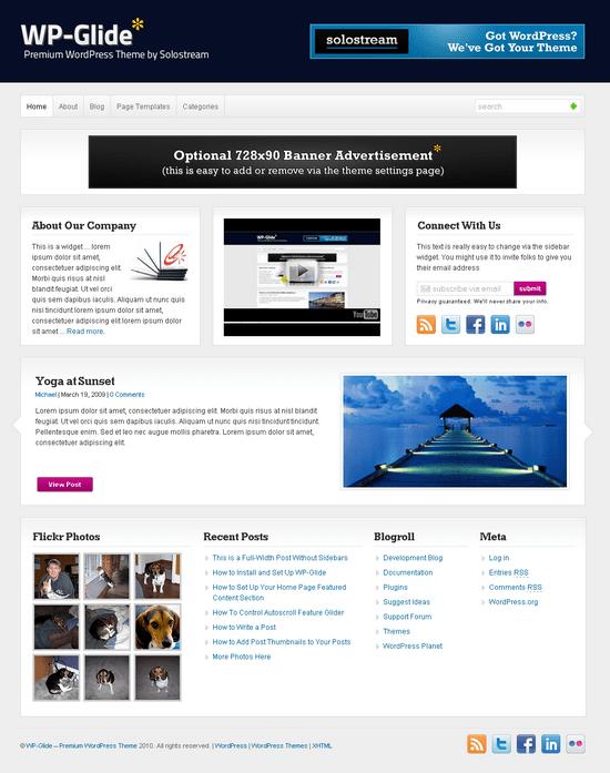 wp glide wordpress theme - WP-Glide Premium Wordpress Theme