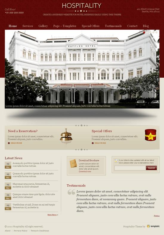 hospitality wordpress theme - Hospitality  Premium Wordpress Theme