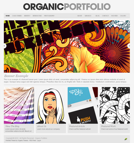organic portfolio wordpress theme - OrganicThemes Wordpress Themes