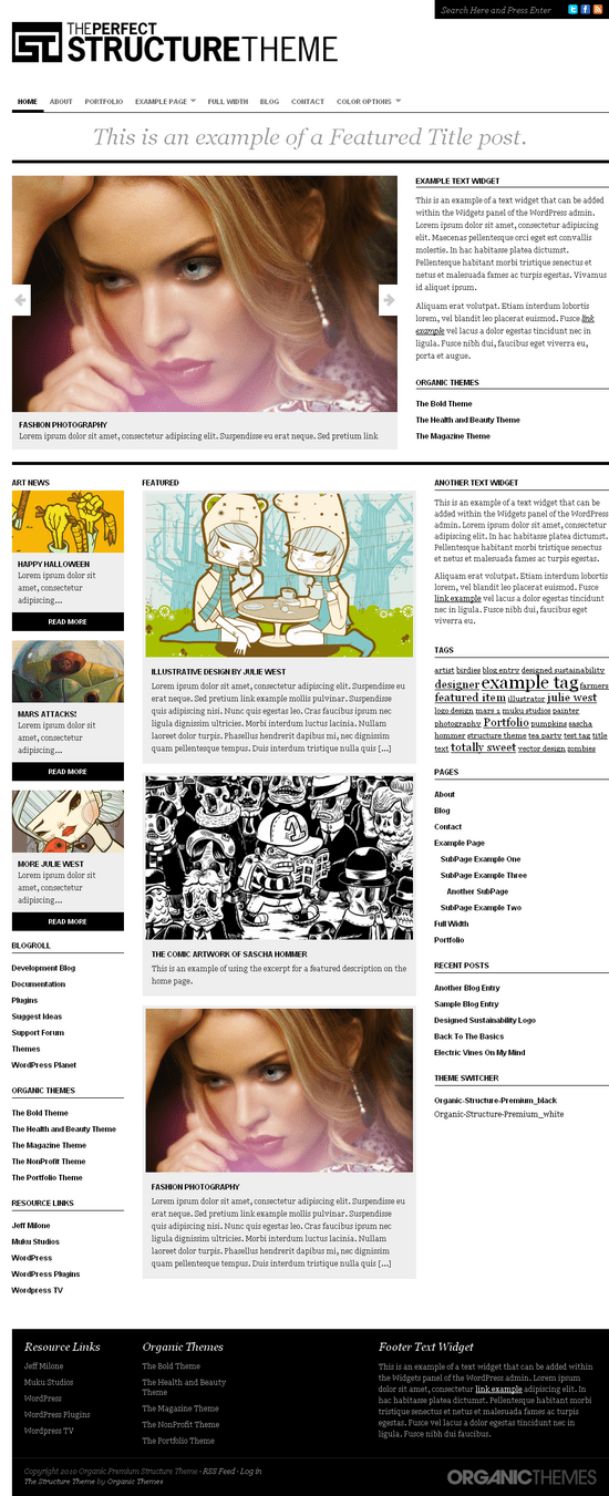 organic structure theme - OrganicThemes Wordpress Themes