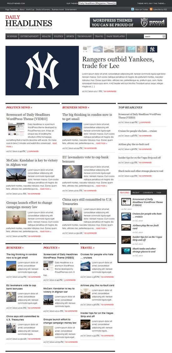 daily headlines wordpress theme - Daily Headlines Premium WordPress Theme