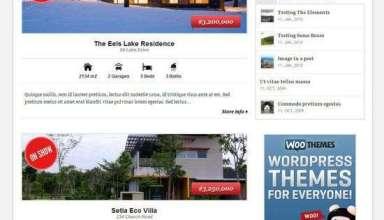 estate real estate wordpress theme - Woothemes Estate Premium WordPress Theme