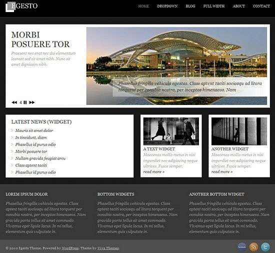 egesto wordpress theme - Egesto Premium WordPress Theme