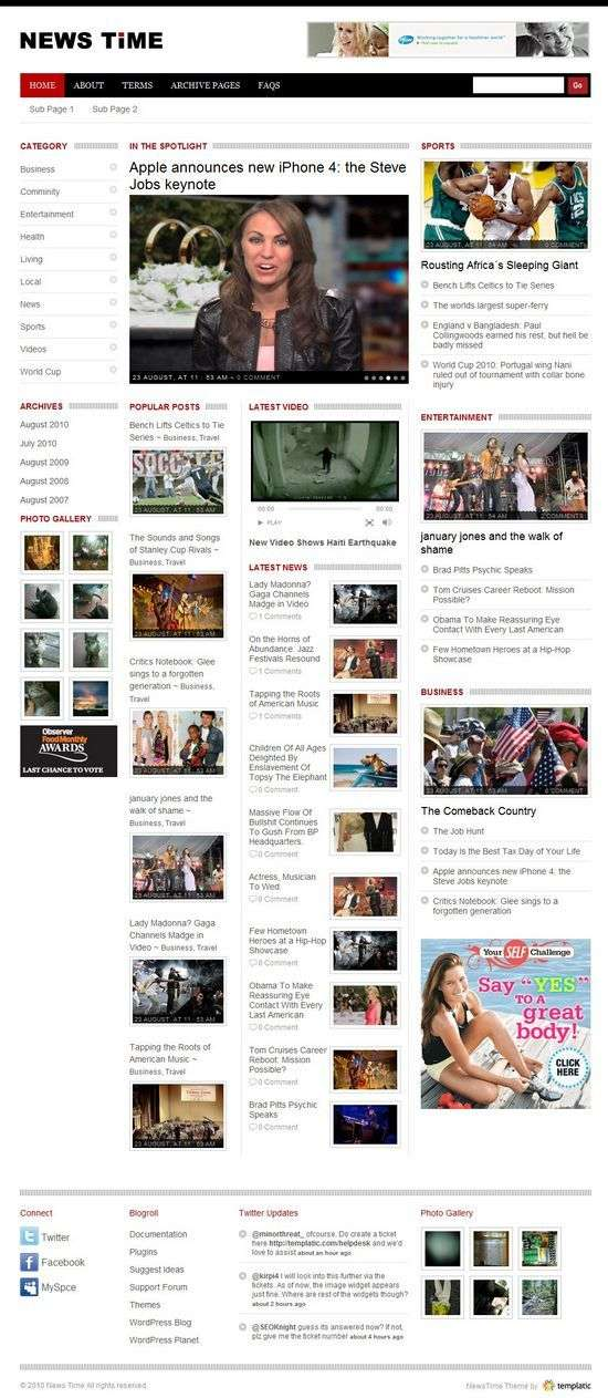 newstime wordpress theme - NewsTime Premium WordPress Theme