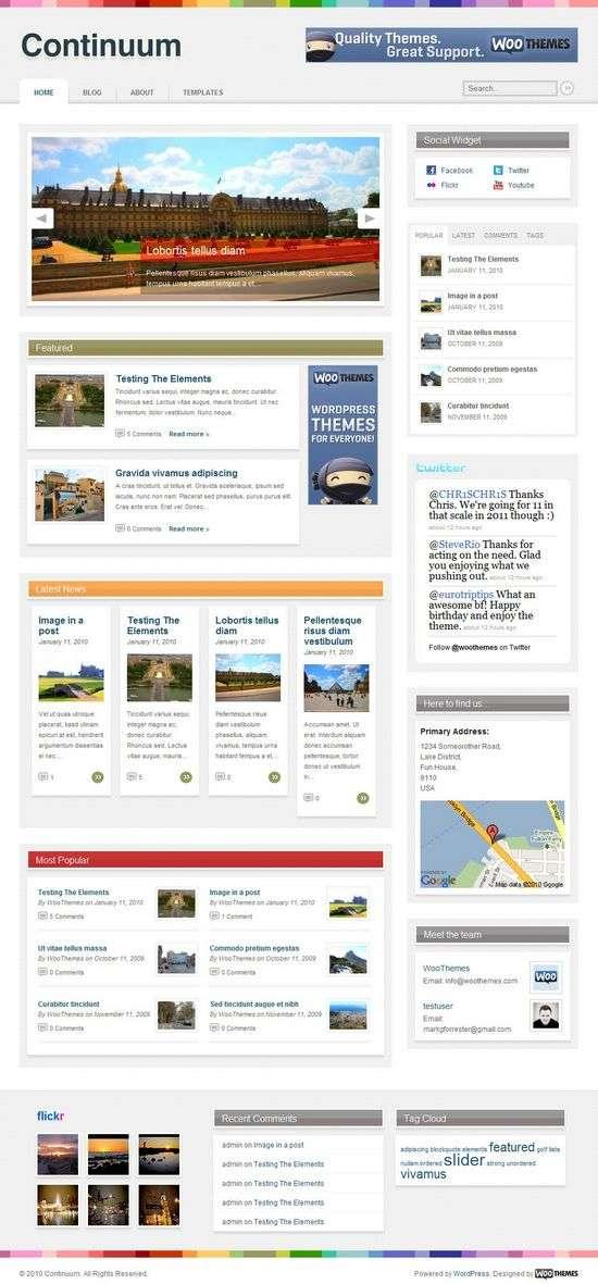 continuum wordpress theme - Continuum Premium WordPress Theme