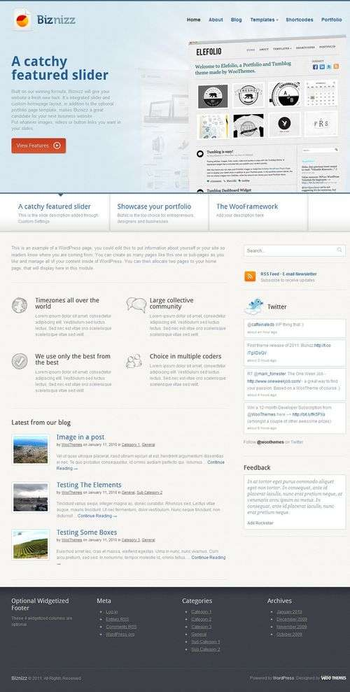 biznizz wordpress theme - Biznizz Premium WordPress Theme