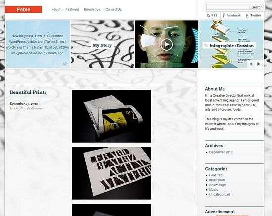 fable wordpress theme - Fable Premium WordPress Theme