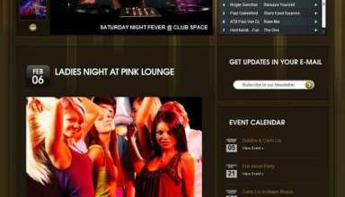 night clubbing wordpress theme - Nightclubbing Premium WordPress Theme