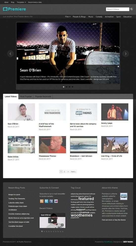 premiere wordpress theme - Premiere Premium WordPress Theme