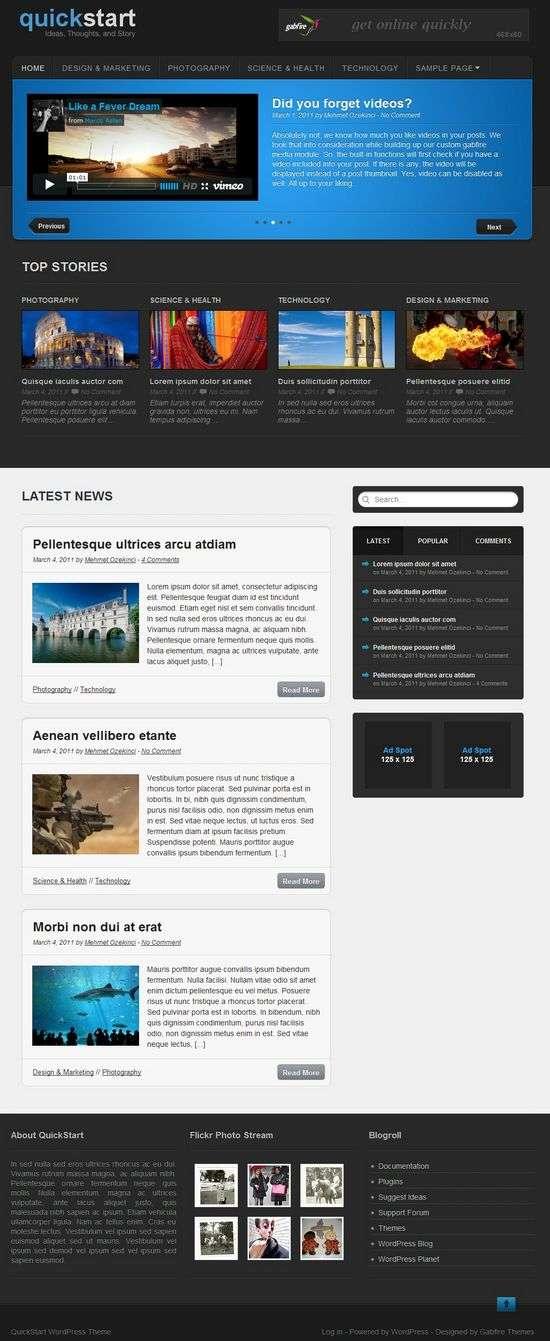 quickstart wordpress theme - QuickStart Premium WordPress Theme