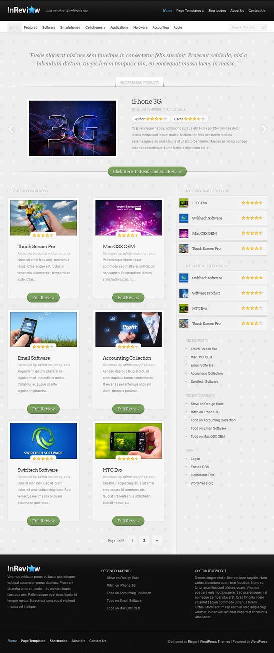 inreview wordpress theme - InReview WordPress Theme