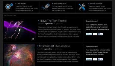 organic tech wordpress theme - Organic Tech Premium WordPress Theme