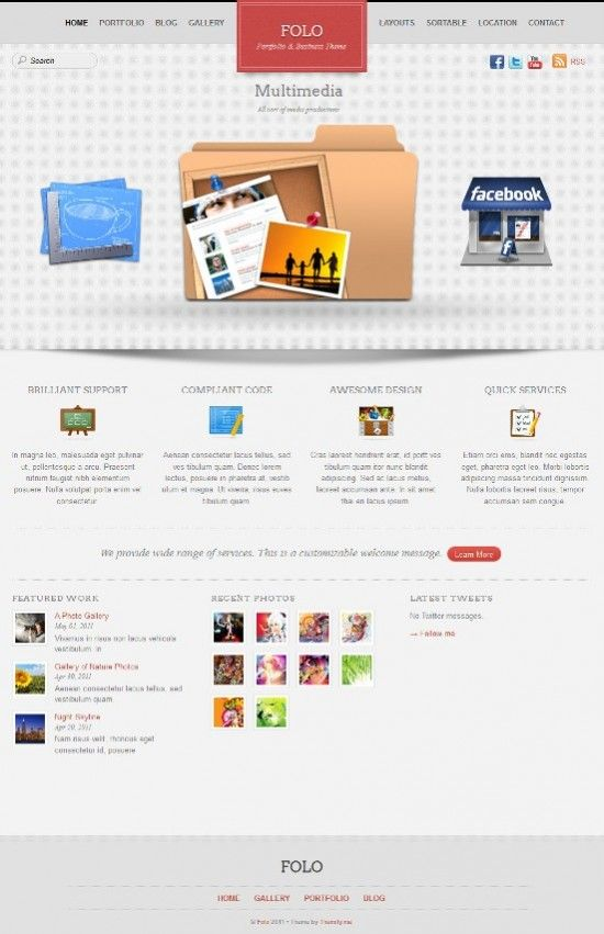 folo wordpress themes avjthemescom 550x851 - Folo WordPress Theme