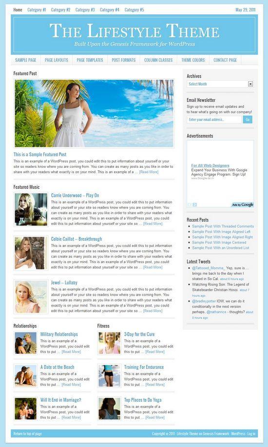 lifestyle studiopress avjthemescom - StudioPress Lifestyle 2.0 WordPress Theme