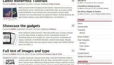 r8 blog wordpress theme - R8 Blog WordPress Theme