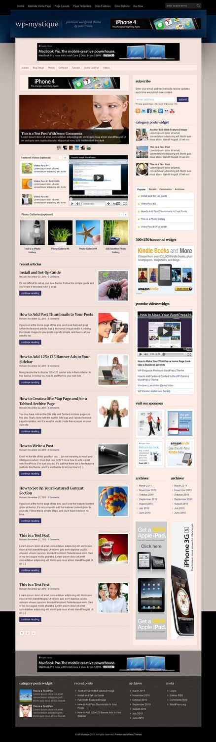 wp mystique solostream avjthemescom - WP-Mystique WordPress Theme