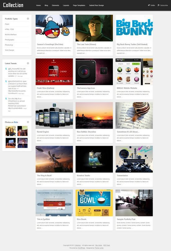 collection theme junkie avjthemescom - Collection WordPress Theme