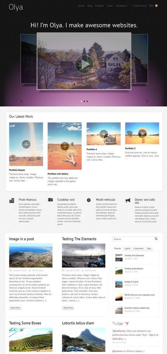 olya wordpress theme - Olya WordPress Theme