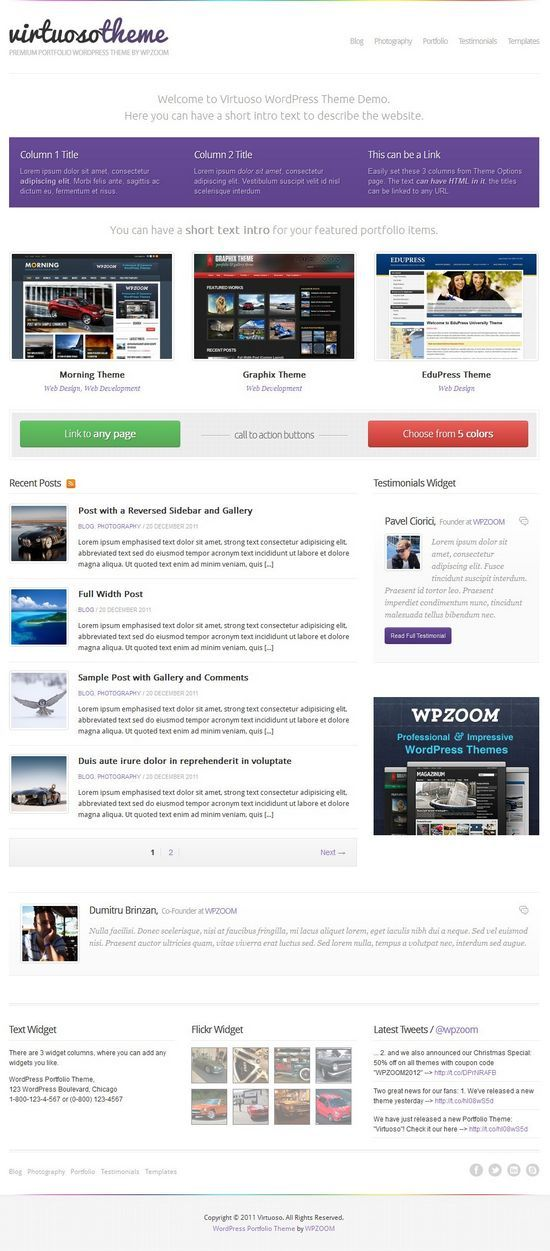 virtuoso wordpress theme - Virtuoso WordPress Theme