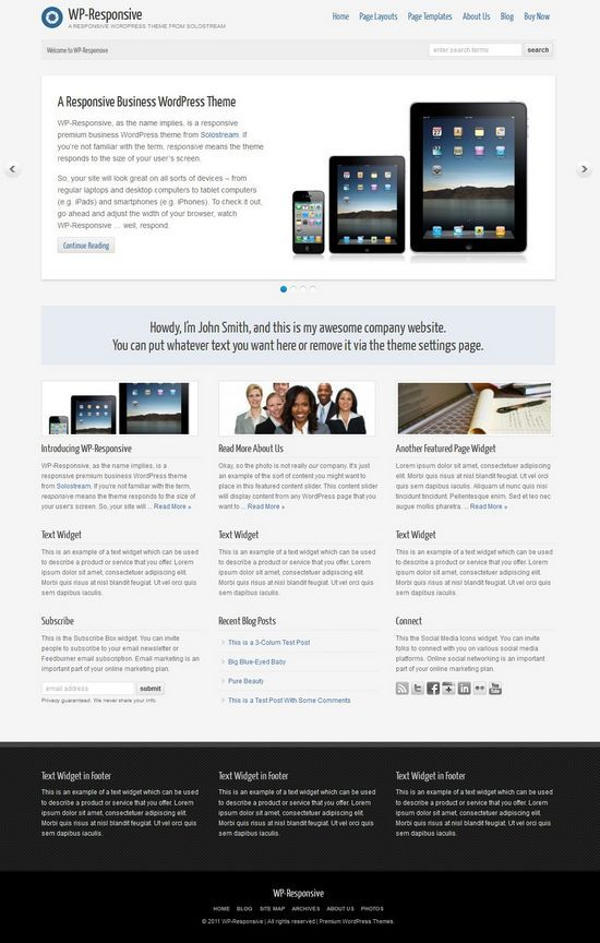 wp responsive solostream avjthemescom - WP Responsive WordPress Theme