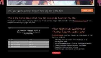 the nightclub alohathemes avjthemescom - The Nightclub WordPress Theme