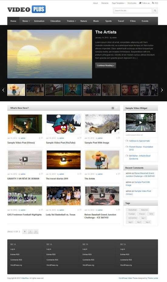 videoplus themejunkie avjthemescom 01 - VideoPlus WordPress Theme