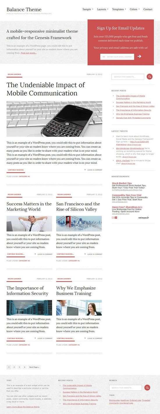 balance studiopress avjthemescom - Balance 1.0 WordPress Theme