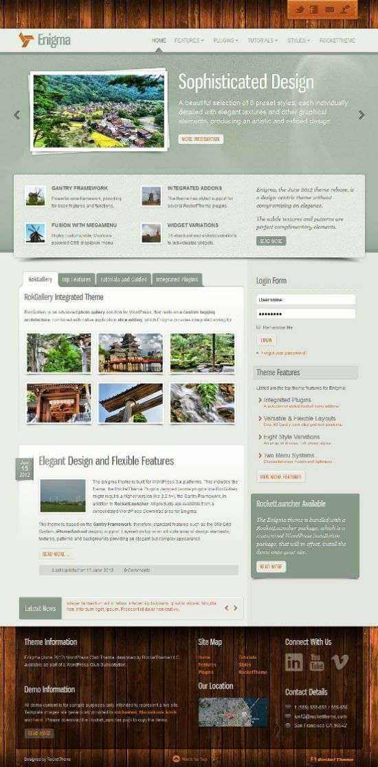 enigma rockettheme - Enigma WordPress Theme