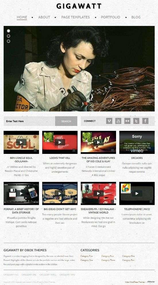 gigawatt obox design themes - Gigawatt WordPress Theme