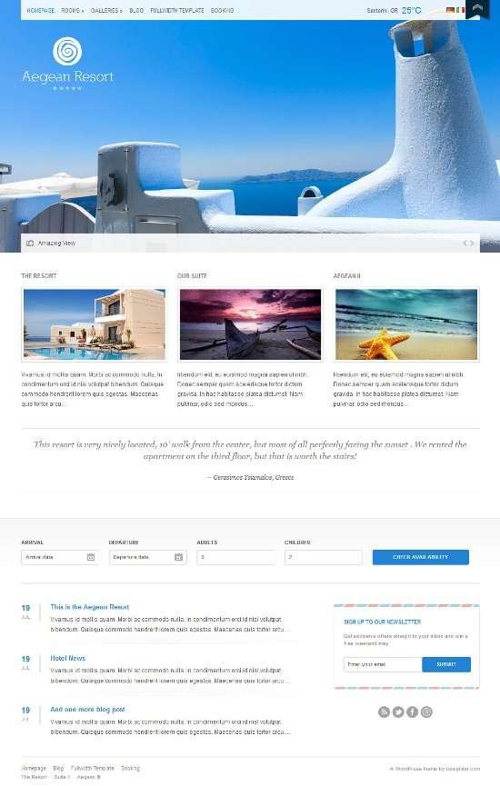 aegean resort cssigniter avjthemescom 01 - Aegean Resort WordPress Theme