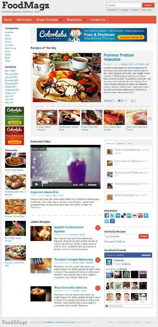 foodmagz colorlabs project avjthemescom 01 - FoodMagz WordPress Theme