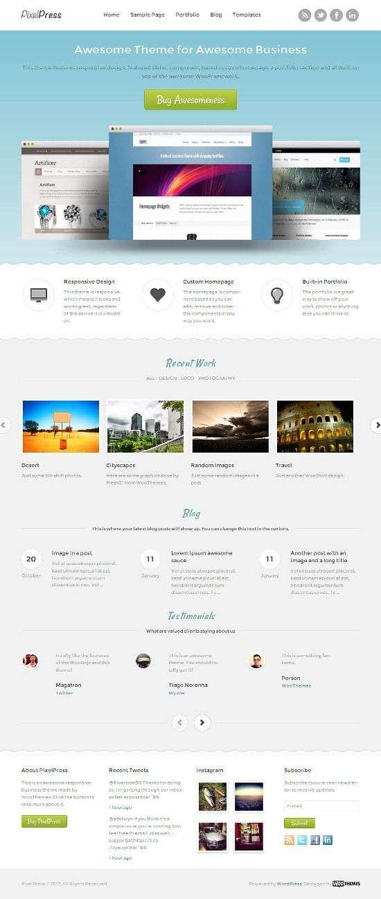 pixelpress woothemes avjthemescom 01 - PixelPress WordPress Theme
