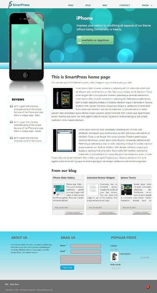 smartpress chimera themes - SmartPress WordPress Theme