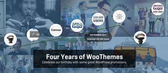 woothemes 4 year birthday deals - WooThemes 4th Birthday Celebration Deals