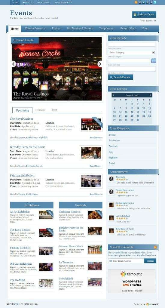 events v2 templatic avjthemescom 01 - Events v2 WordPress Theme