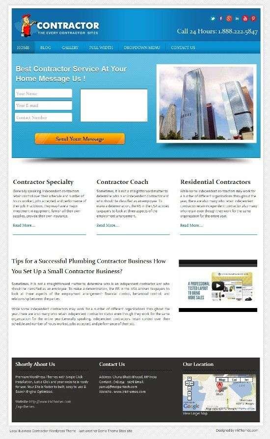 local business inkthemes - Local Business WordPress Theme