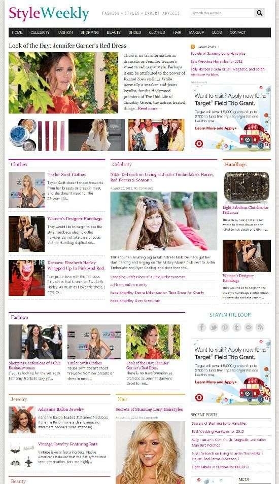 styleweekly cloverthemes - Styleweekly WordPress Theme